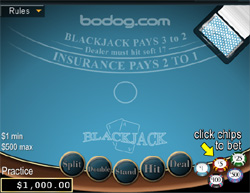 Bodog Casino.com Blackjack